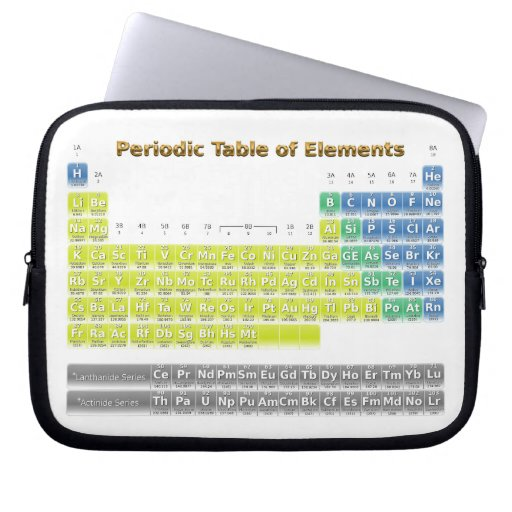 Periodic Table Laptop Computer Sleeve