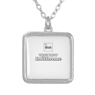 Molecules necklaces lockets zazzle periodic table meh element of indifference silver plated necklace urtaz Image collections