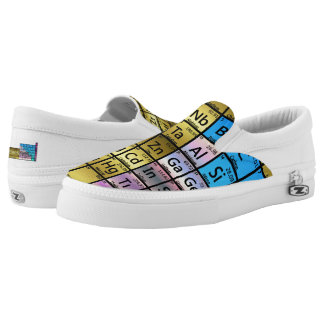 Periodic Table (Not Mirrored Pair) Slip On Shoes