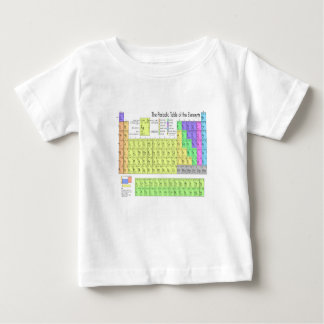 Periodic table of elements baby T-Shirt
