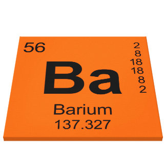 Periodic Table of Elements (Barium) Gallery Wrapped Canvas