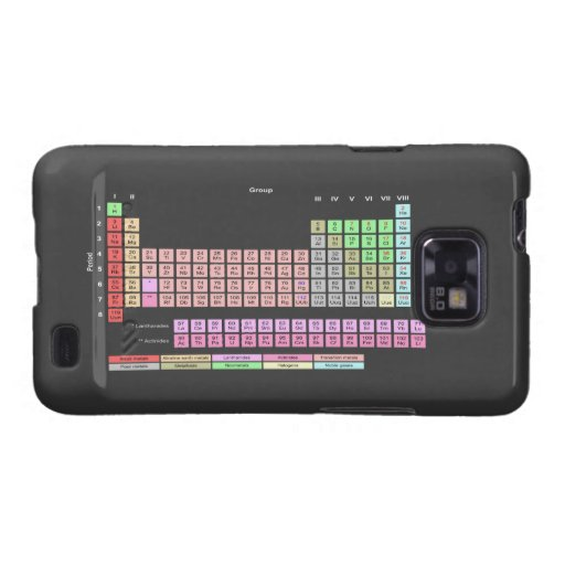 Periodic Table of Elements Samsung Galaxy SII Covers