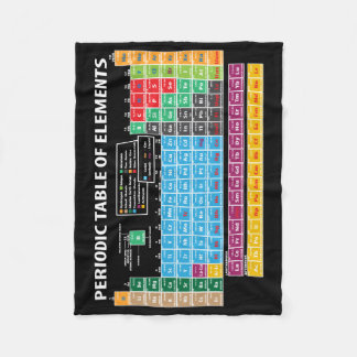 Periodic Table Of Elements Fleece Blanket