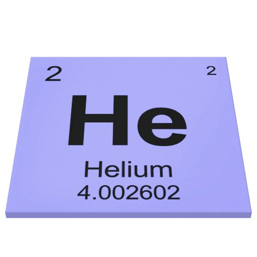 Periodic Table of Elements (Helium) Gallery Wrap Canvas