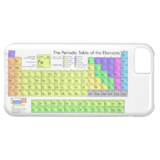 Periodic table of elements iPhone 5C case