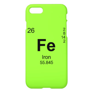 Periodic Table of Elements (Iron) iPhone 7 Case