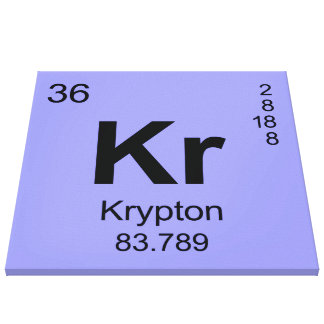 Periodic Table of Elements (Krypton) Canvas Prints