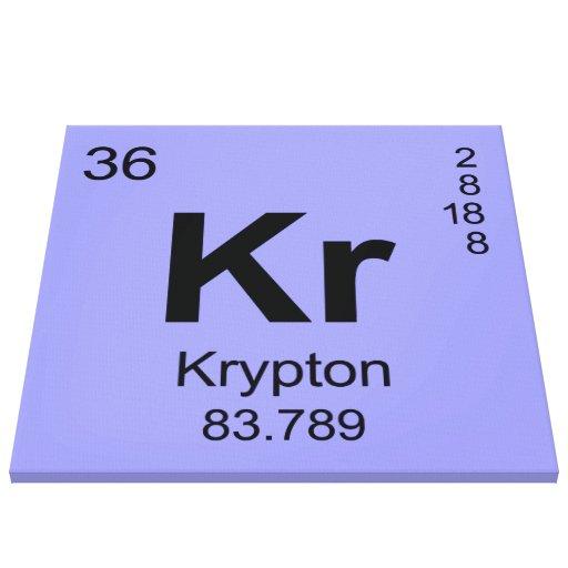 Periodic Table of Elements (Krypton) Canvas Prints