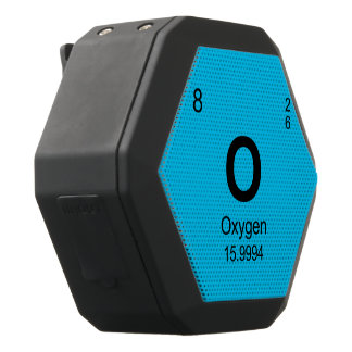 Periodic Table of Elements (Oxygen) Black Boombot Rex Bluetooth Speaker