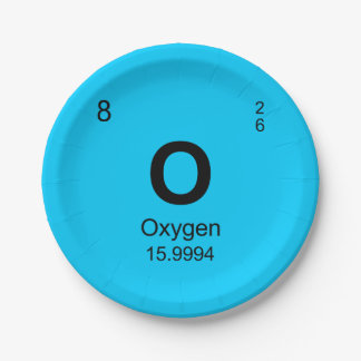 Periodic Table of Elements (Oxygen) Paper Plate