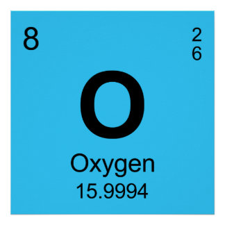 Periodic Table of Elements Oxygen Posters
