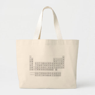 periodic table of elements jumbo tote bag
