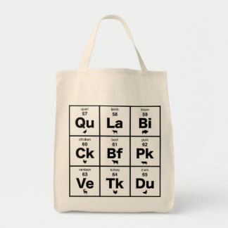 Periodic Table of Meats Grocery Tote Bag