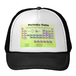 Periodic Table of rejected Elements Mesh Hats
