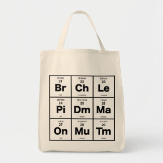 Periodic Table of Sandwich Toppings Grocery Tote Bag