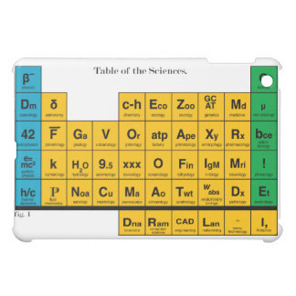 Periodic Table of Sciences Cover For The iPad Mini