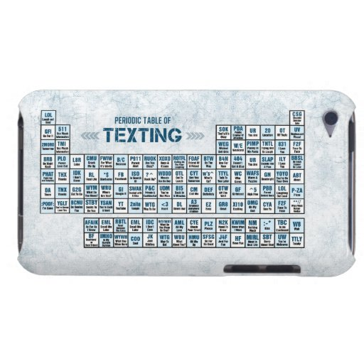 Periodic Table of Texting (Blue) iPod Touch Cover