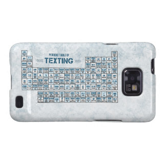 Periodic Table of Texting (Blue) Galaxy SII Covers
