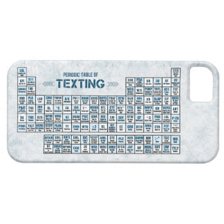 Periodic Table of Texting (Blue) iPhone 5 Cover