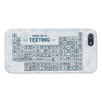 Periodic Table of Texting (Blue) Cover For iPhone 5/5S