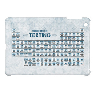Periodic Table of Texting (Blue) Cover For The iPad Mini