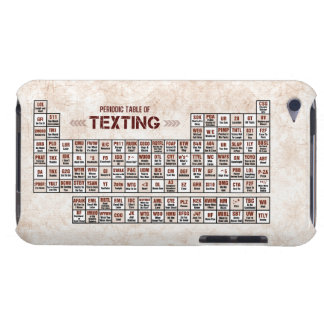 Periodic Table of Texting iPod Case-Mate Cases