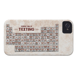 Periodic Table of Texting iPhone 4 Case