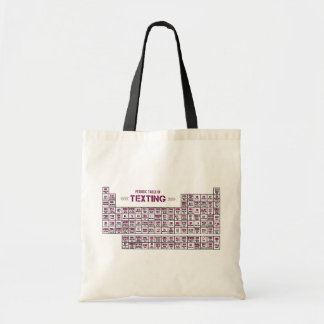 Periodic Table of Texting (Pink) Budget Tote Bag
