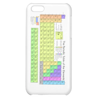 Periodic Table of the Elements Cover For iPhone 5C