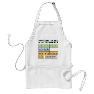 Periodic Table of the Elephants Standard Apron