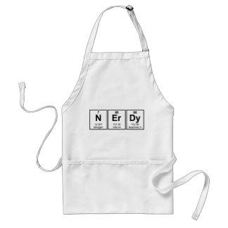 Periodically Nerdy Element Symbols Adult Apron
