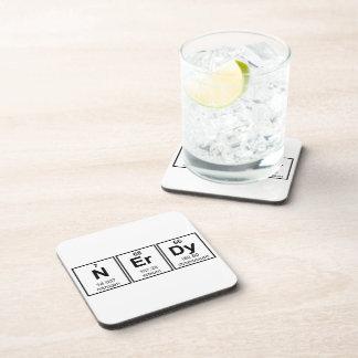 Periodically Nerdy Element Symbols Coaster