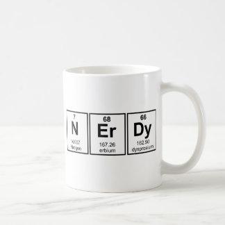 Periodically Nerdy Element Symbols Basic White Mug