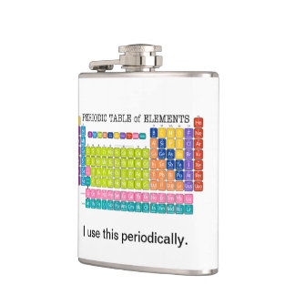 Periodically Periodic Table of Elements Hip Flasks