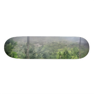Periphery of the jungle skate board deck