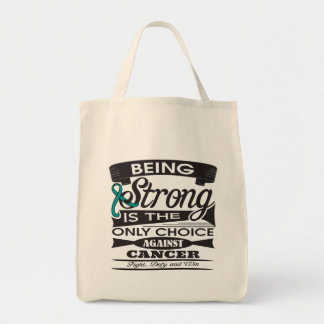Peritoneal Cancer Strong is The Only Choice Canvas Bags