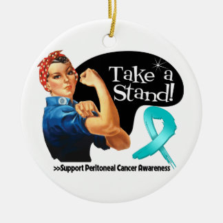 Peritoneal Cancer Take a Stand Christmas Ornament