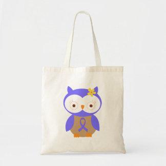 Periwinkle Awareness Ribbon Owl