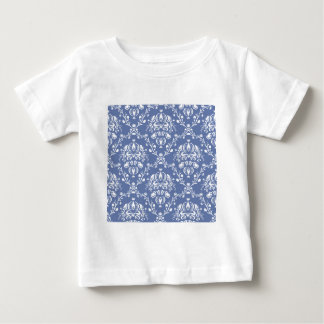 Periwinkle Blue and White Damask Baby T-Shirt