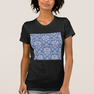 Periwinkle Blue and White Damask T-Shirt