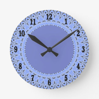 Periwinkle Blue Country Lace Wall Clock