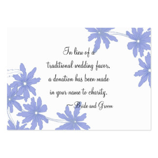 Periwinkle Blue Daisies Wedding Charity Favor Card Pack Of Chubby Business Cards