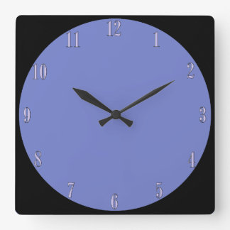 Periwinkle Blue Wall Clock