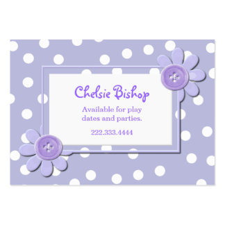 Periwinkle Blue & White Polka Dots Play date card Pack Of Chubby Business Cards