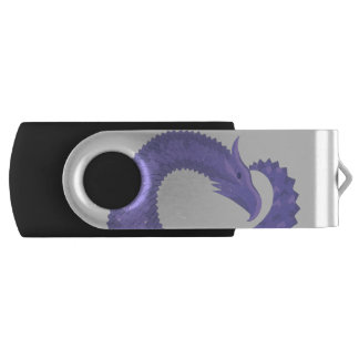 Periwinkle heart dragon USB flash drive