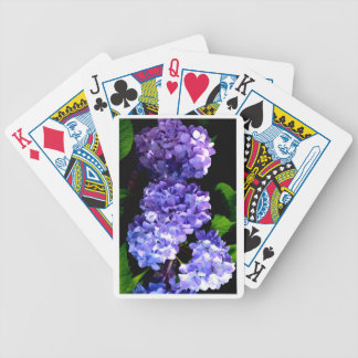 Periwinkle Hydrangeas Bicycle Playing Cards