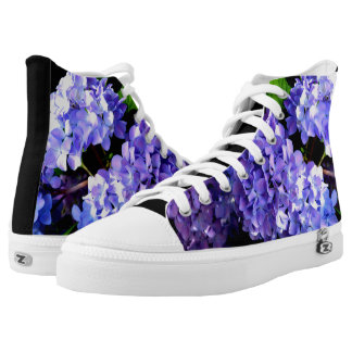 Periwinkle Hydrangeas High Tops