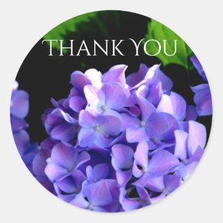 Periwinkle Hydrangeas - thank you stickers