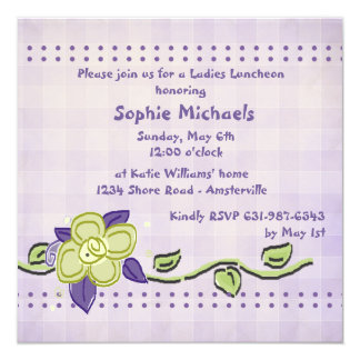 Periwinkle Luncheon Invitation