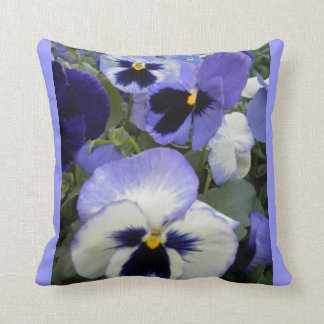 Periwinkle Pansies Throw Pillow